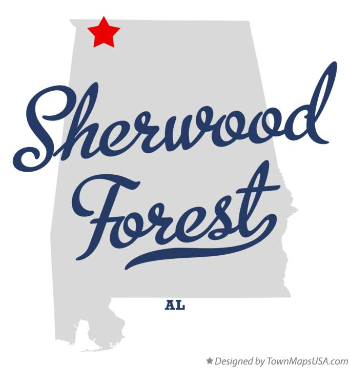 Map of Sherwood Forest Alabama AL