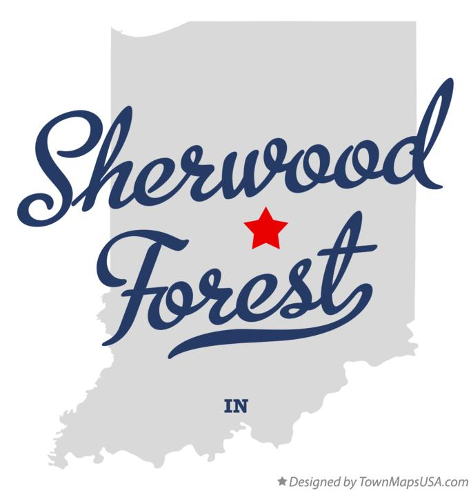 Map of Sherwood Forest Indiana IN