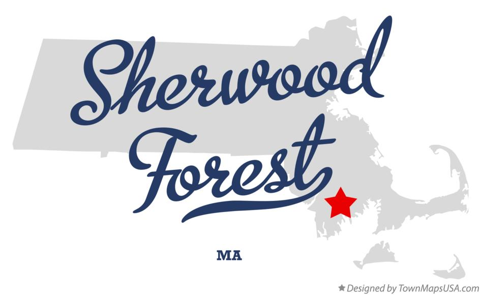 Map of Sherwood Forest Massachusetts MA