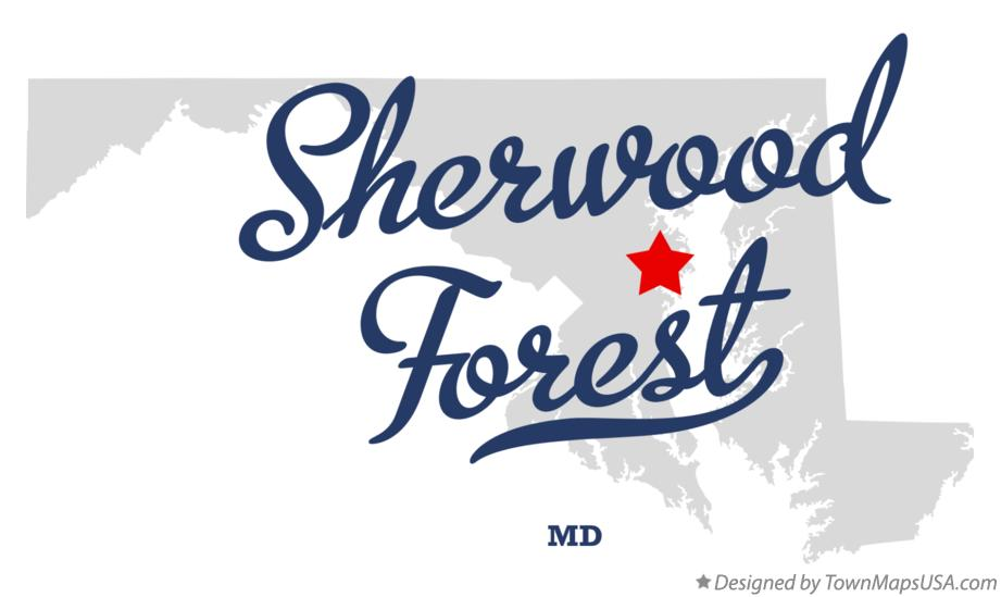 Map of Sherwood Forest Maryland MD