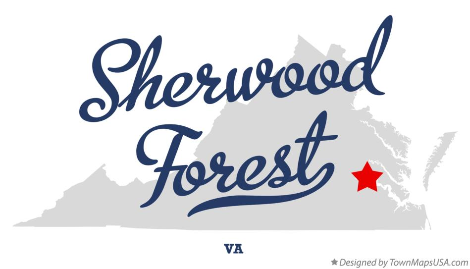 Map of Sherwood Forest Virginia VA