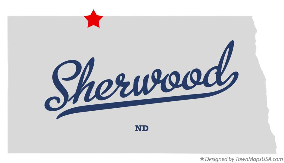 Map of Sherwood North Dakota ND