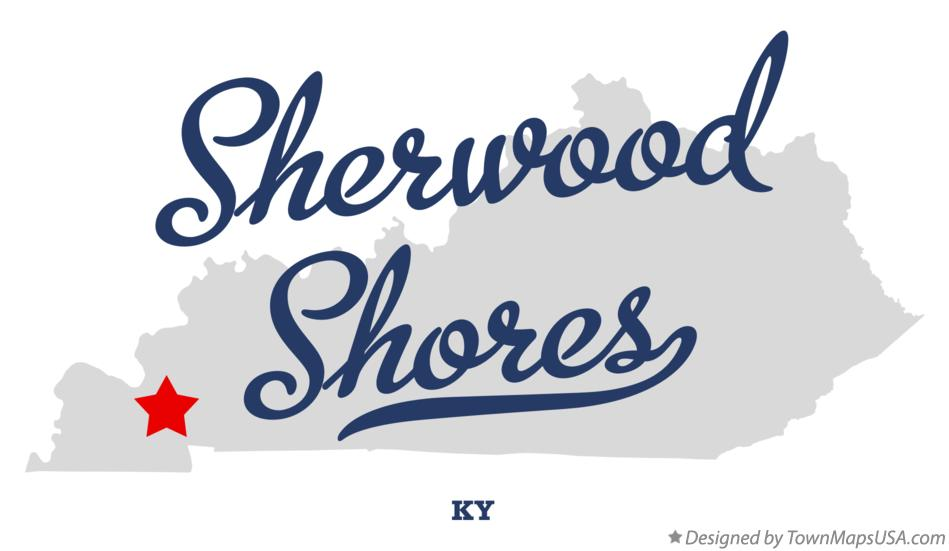 Map of Sherwood Shores Kentucky KY