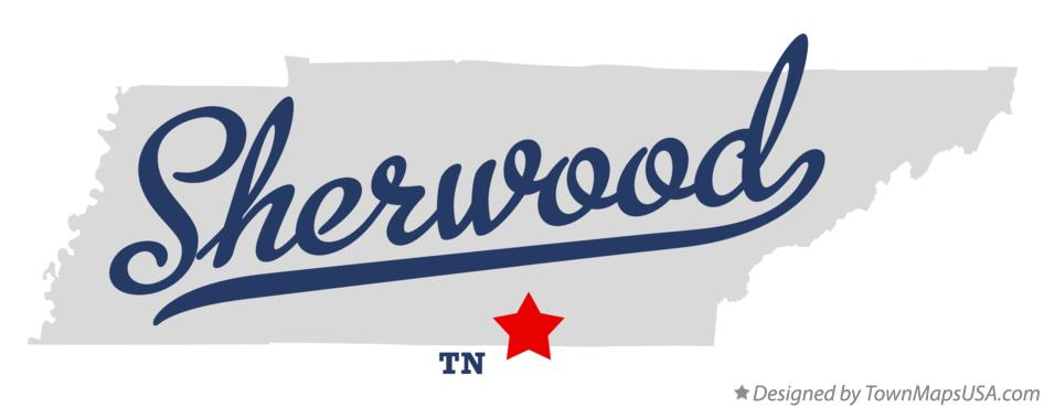 Map of Sherwood Tennessee TN