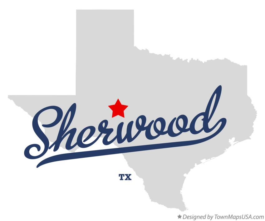 Map of Sherwood Texas TX