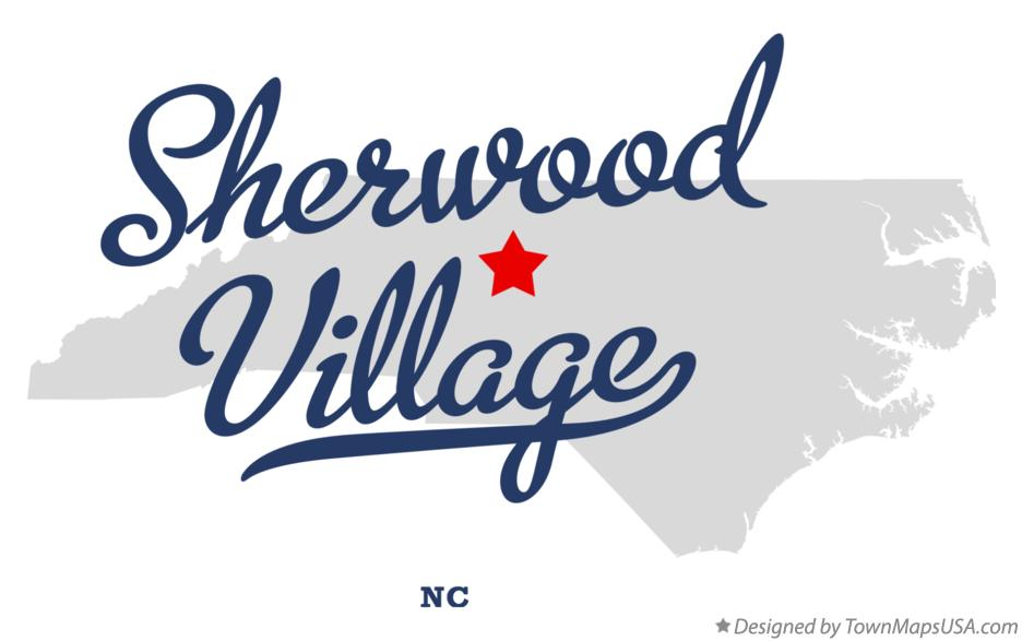 Map of Sherwood Village North Carolina NC