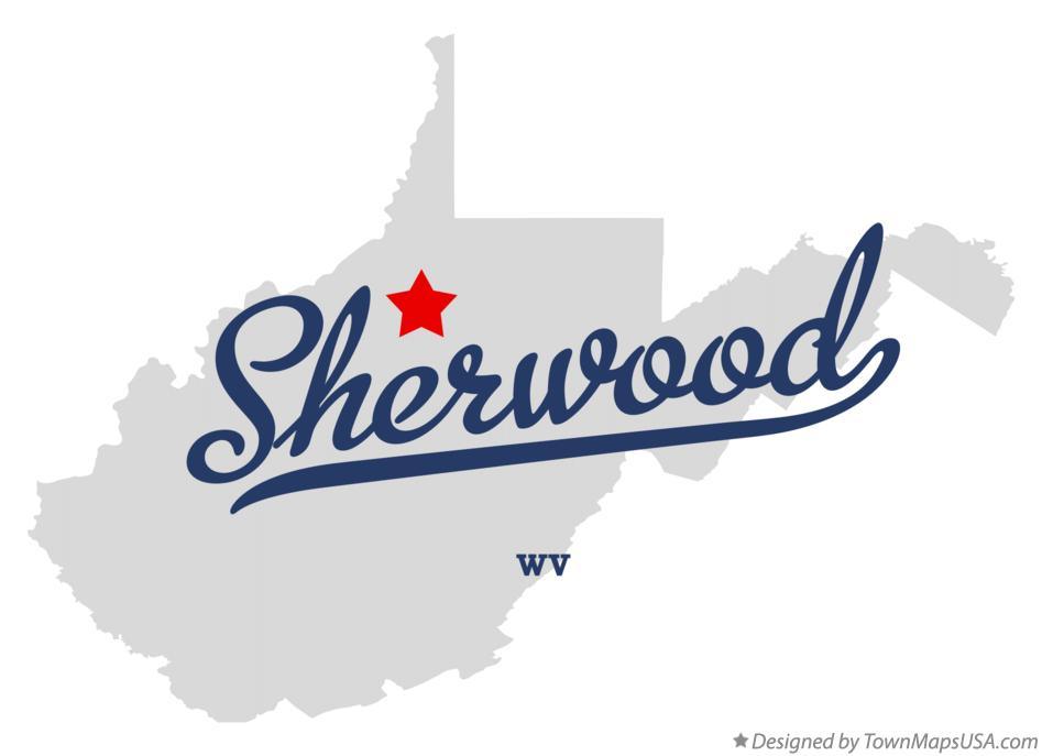Map of Sherwood West Virginia WV