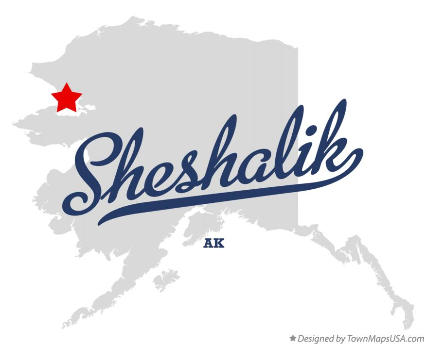 Map of Sheshalik Alaska AK