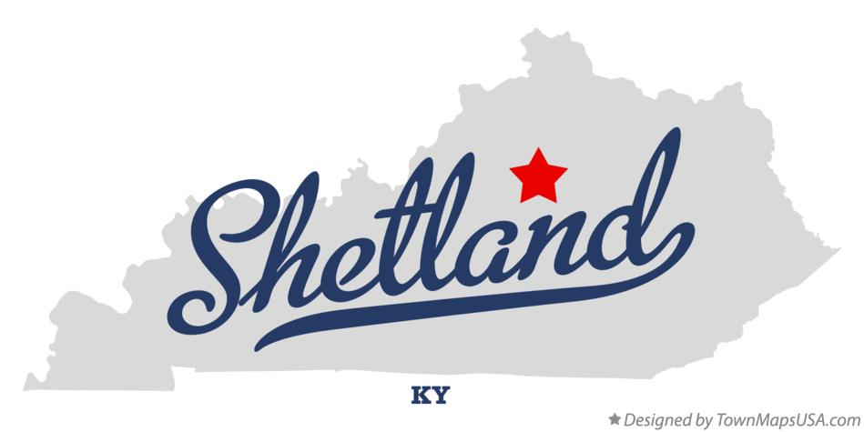 Map of Shetland Kentucky KY