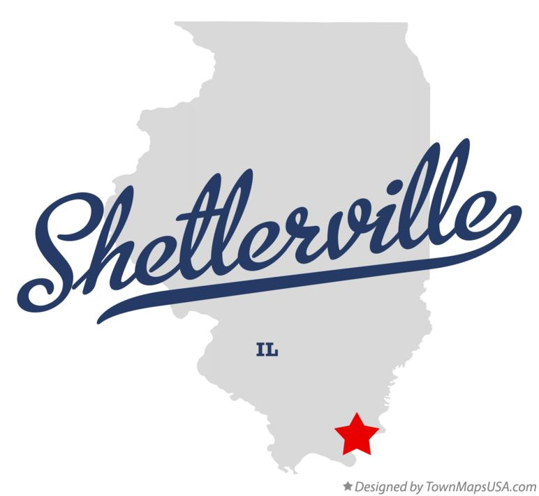 Map of Shetlerville Illinois IL