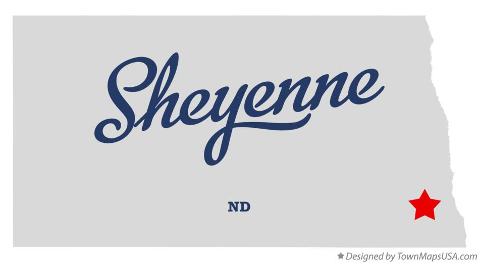 Map of Sheyenne North Dakota ND