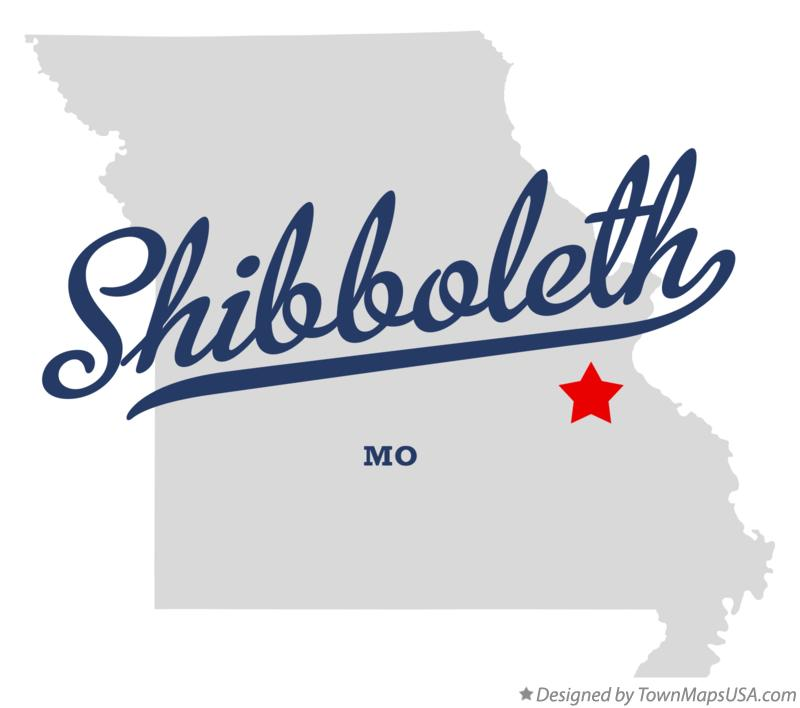 Map of Shibboleth Missouri MO