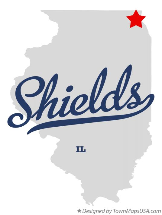 Map of Shields Illinois IL