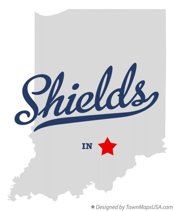 Map of Shields Indiana IN