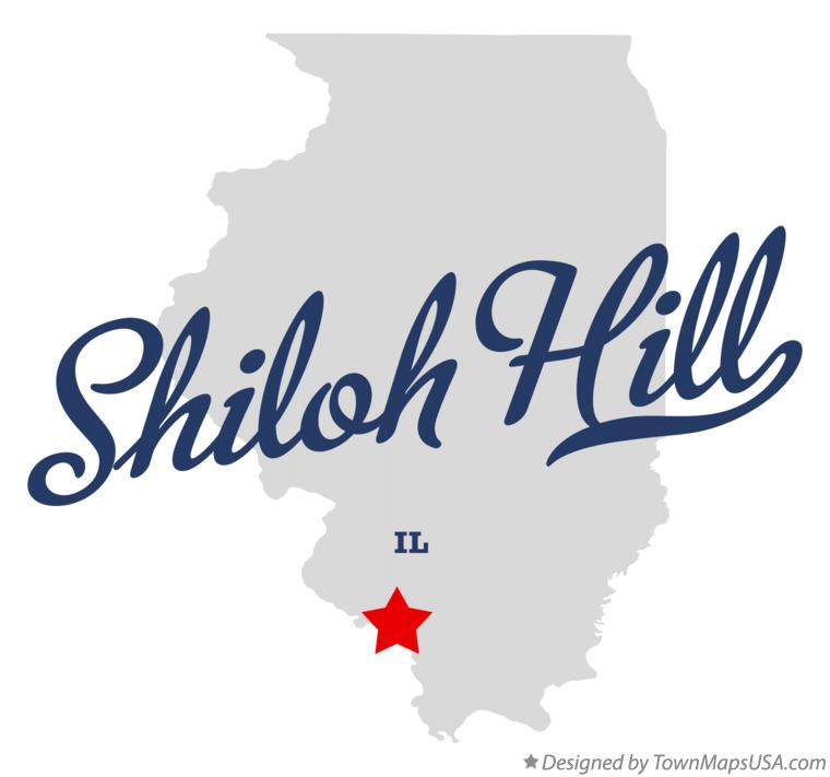 Map of Shiloh Hill Illinois IL