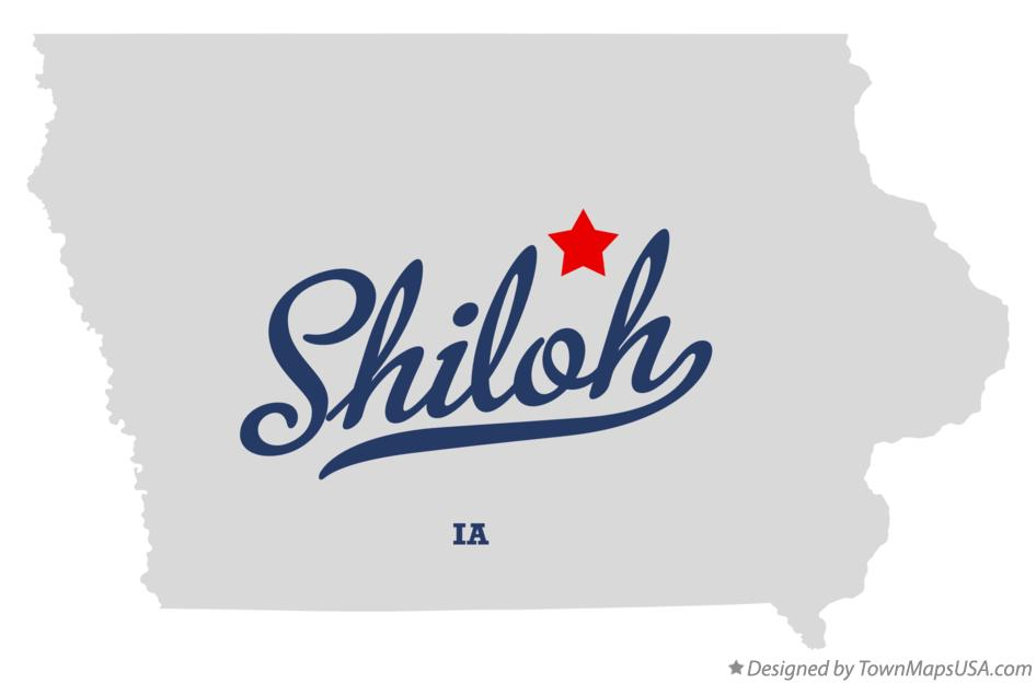 Map of Shiloh Iowa IA