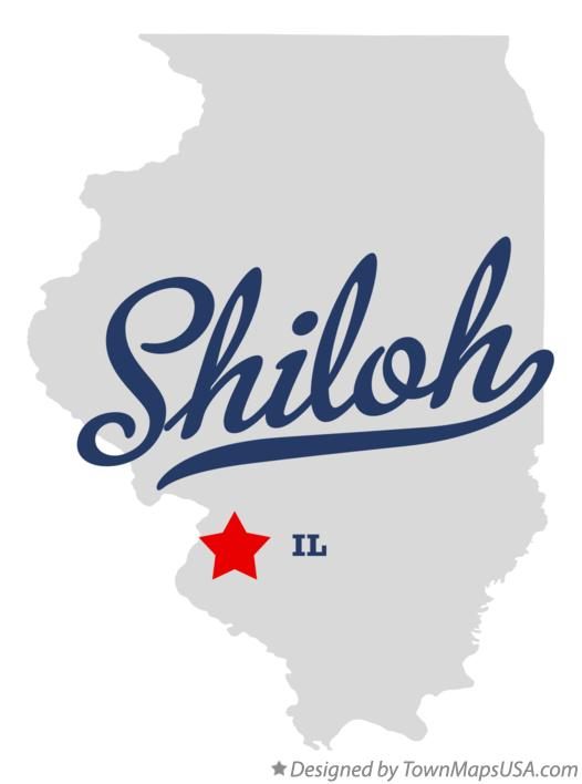 Map of Shiloh, St. Clair County, IL, Illinois