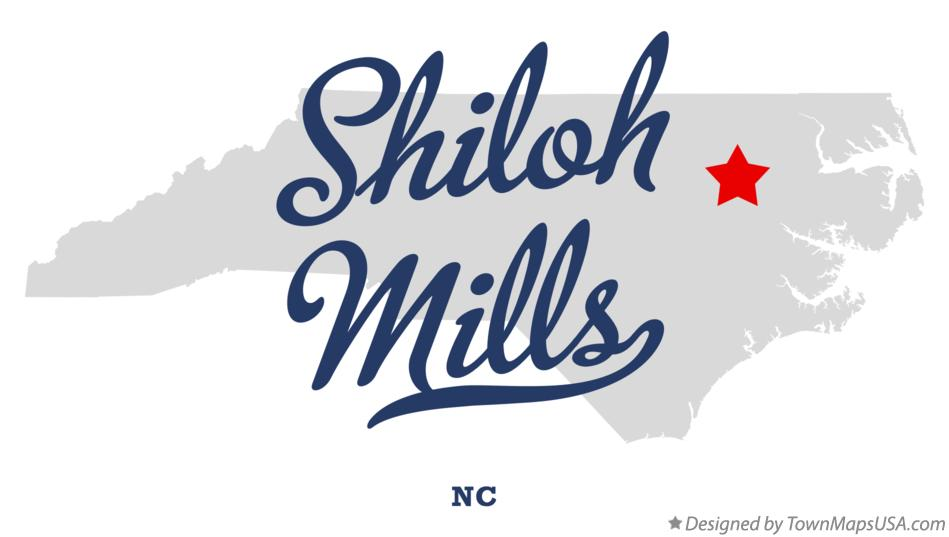 Map of Shiloh Mills North Carolina NC