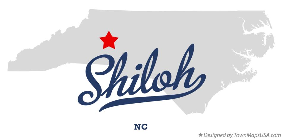 Map of Shiloh North Carolina NC