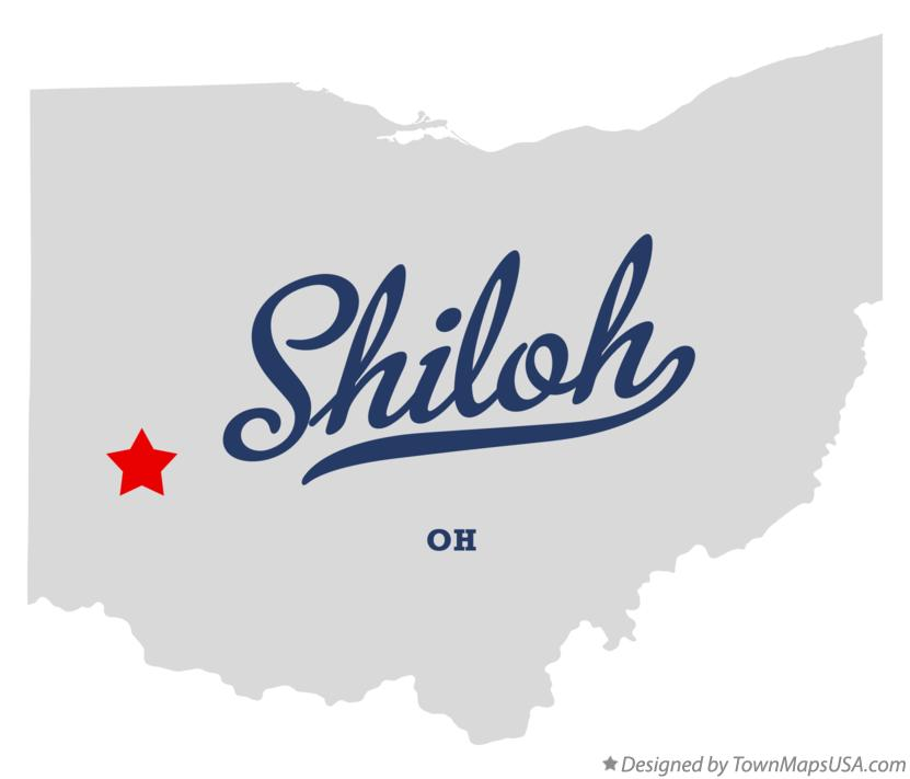 Map of Shiloh Ohio OH
