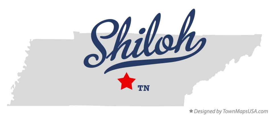 Map of Shiloh Tennessee TN