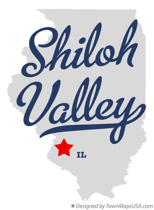Map of Shiloh Valley Illinois IL