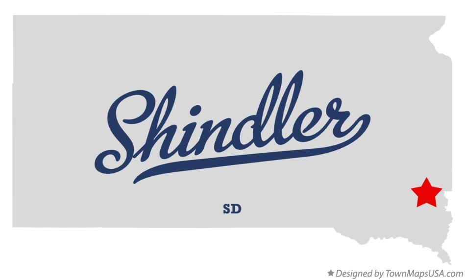 Map of Shindler South Dakota SD