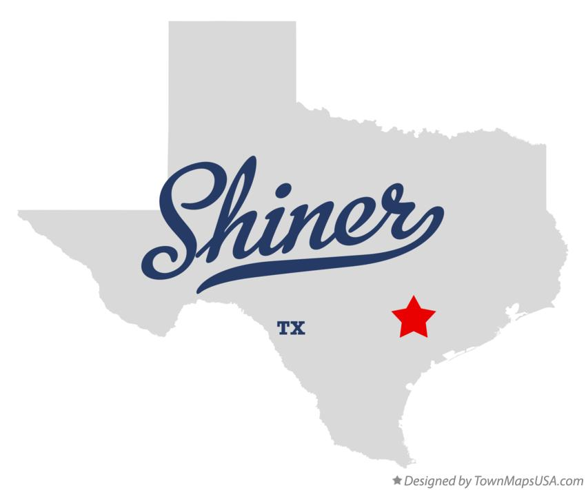 map of shiner tx texas