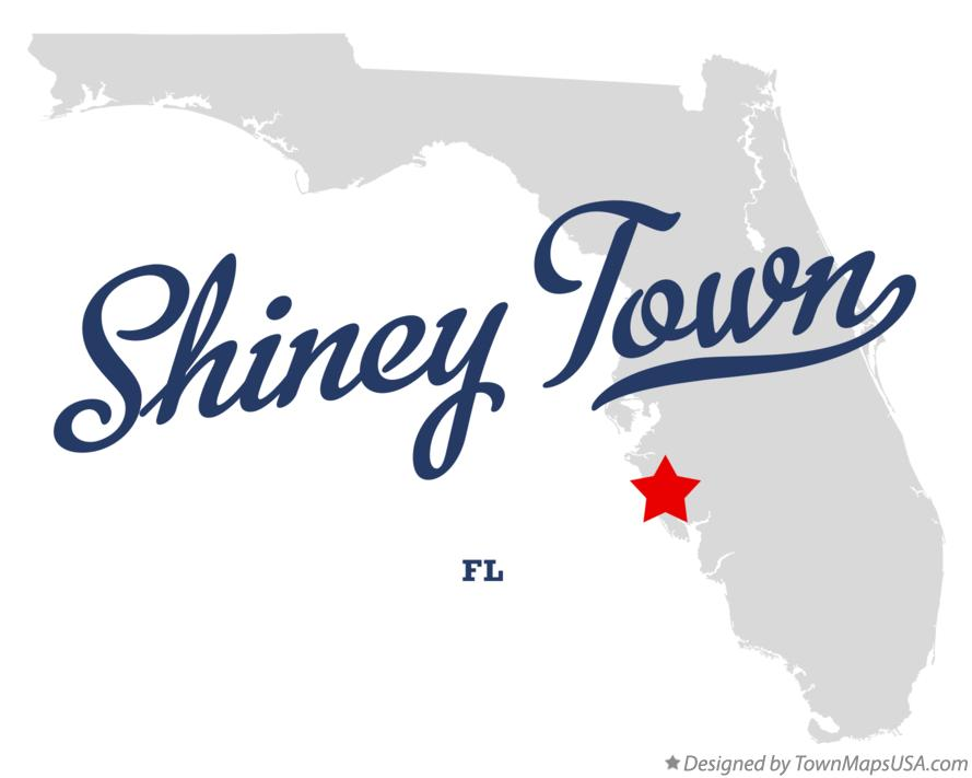 Map of Shiney Town Florida FL