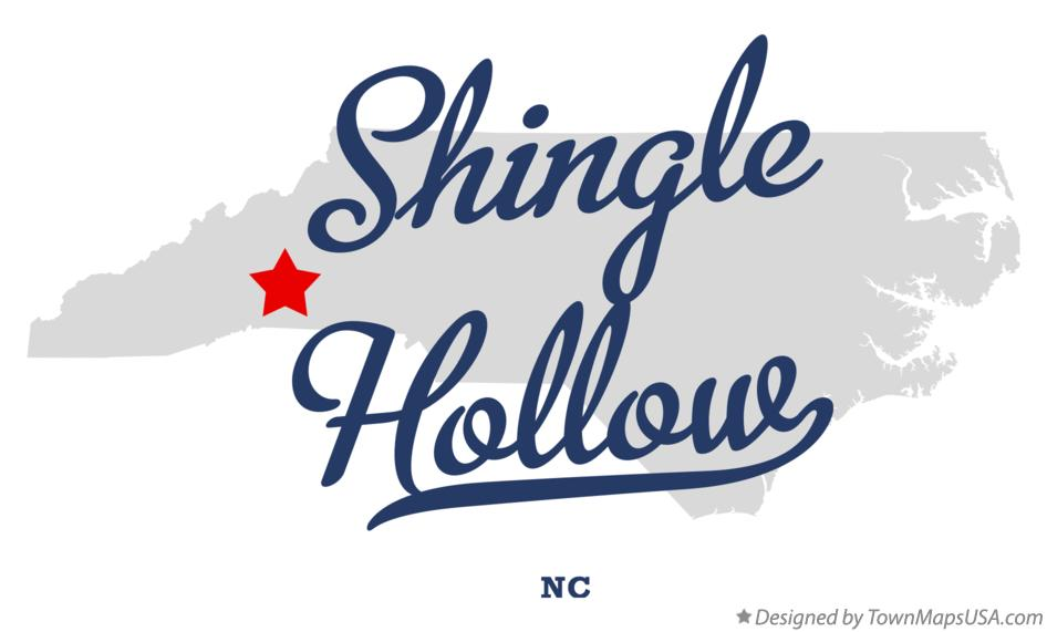 Map of Shingle Hollow North Carolina NC