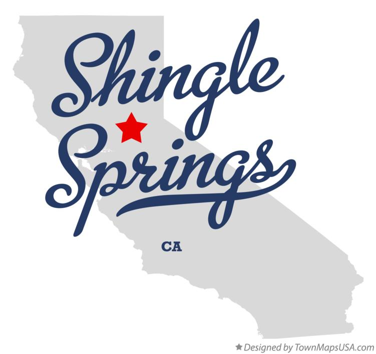 Map of Shingle Springs California CA