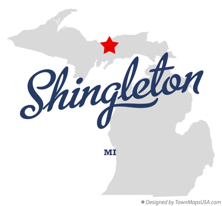 Map of Shingleton Michigan MI