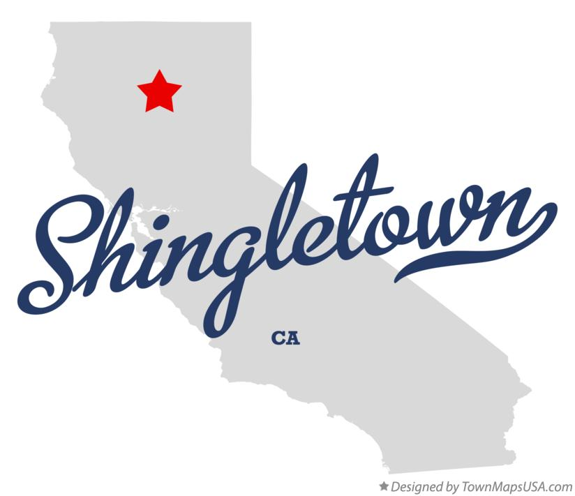 Map of Shingletown California CA