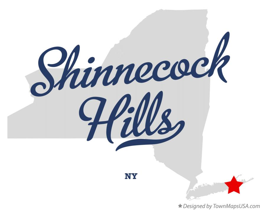 Map of Shinnecock Hills New York NY