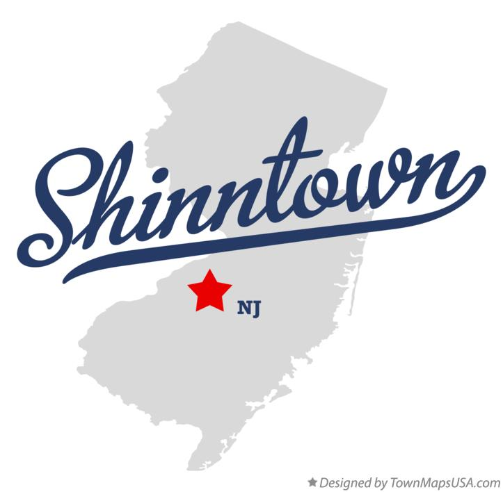 Map of Shinntown New Jersey NJ