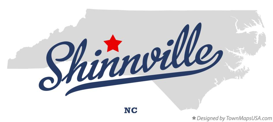 Map of Shinnville North Carolina NC