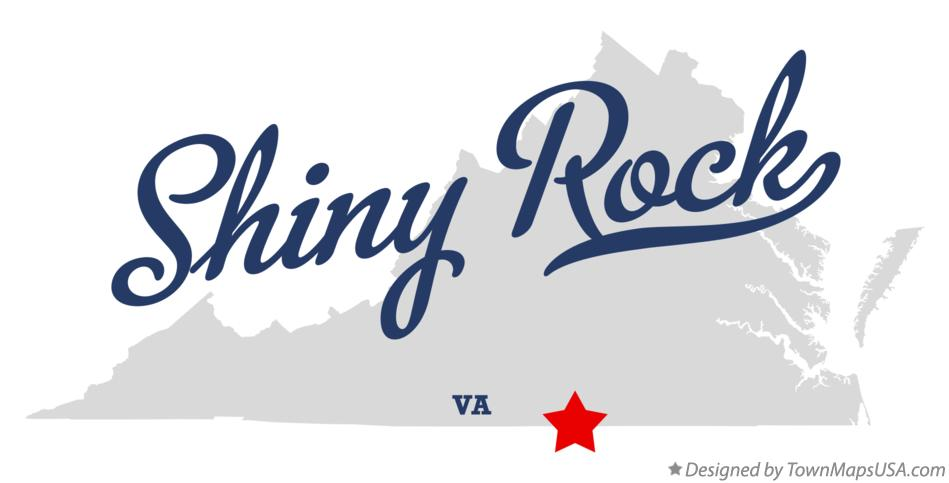 Map of Shiny Rock Virginia VA