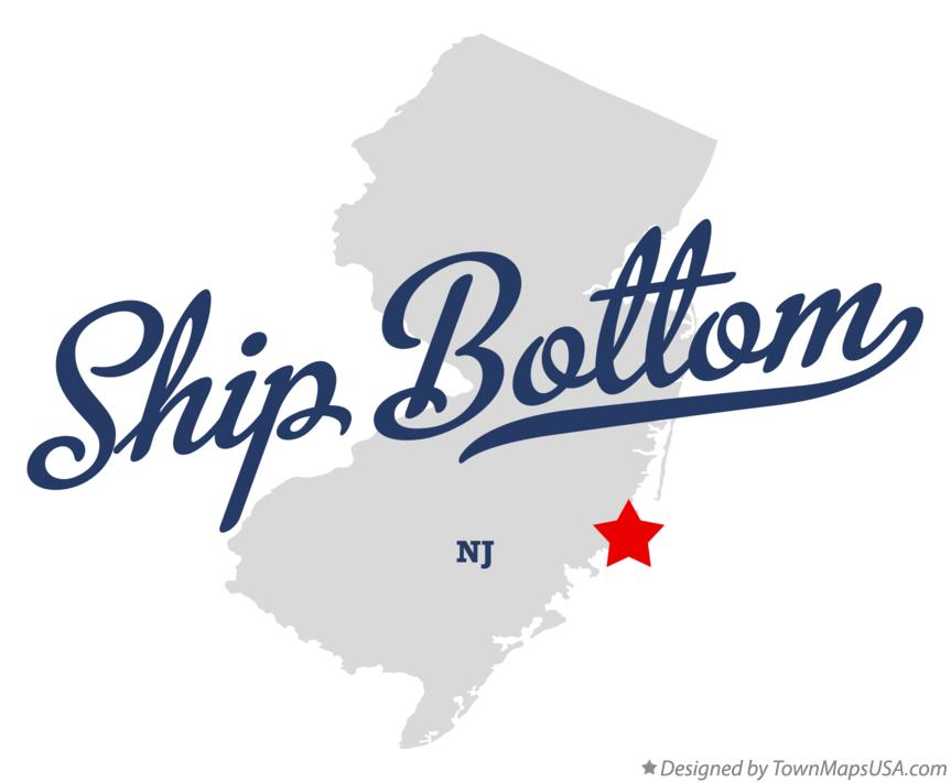 Map of Ship Bottom New Jersey NJ