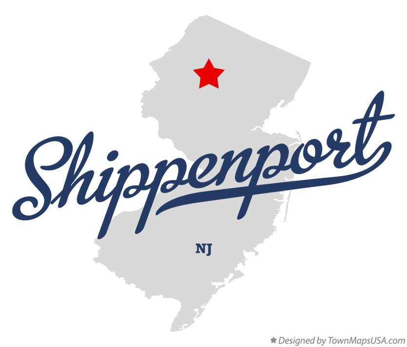Map of Shippenport New Jersey NJ