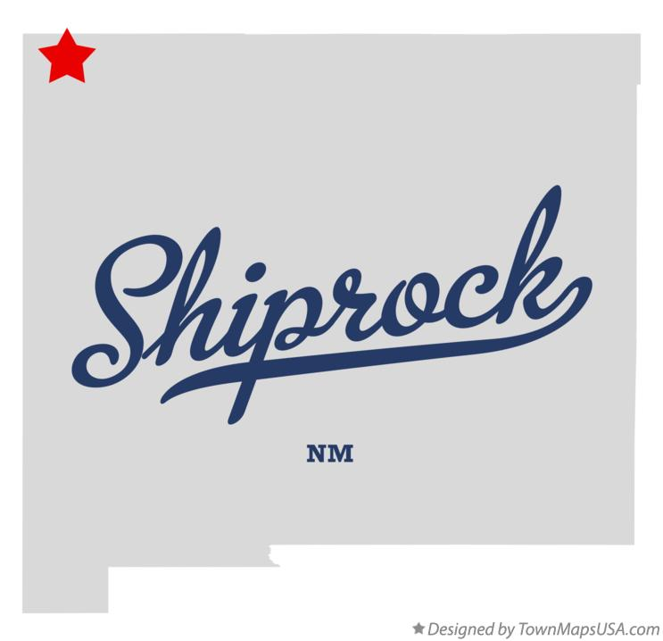 Map Of Shiprock NM New Mexico