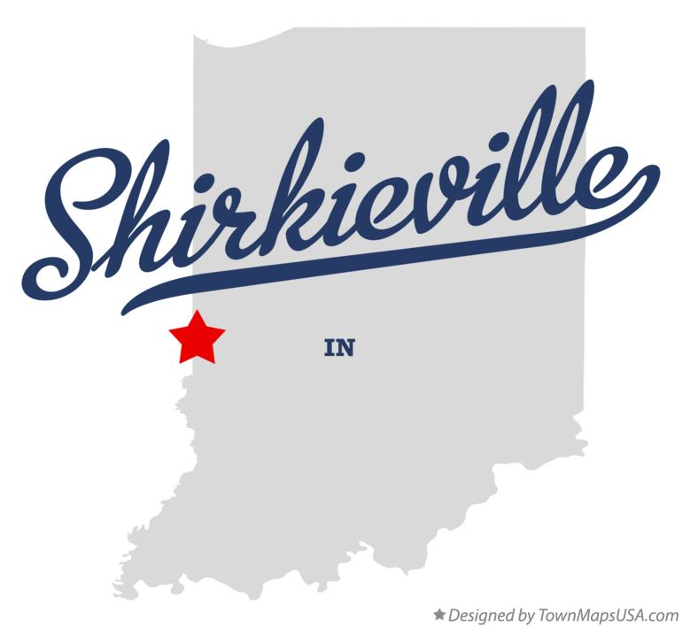 Map of Shirkieville Indiana IN