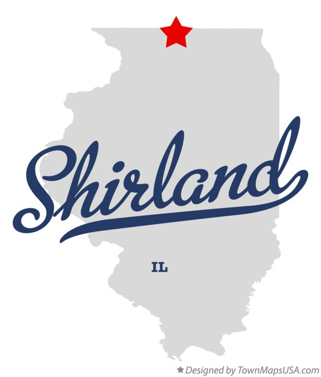 Map of Shirland Illinois IL