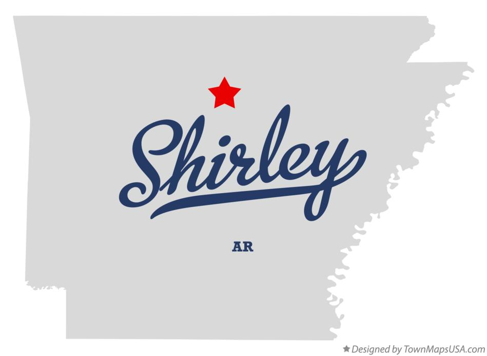 Map of Shirley Arkansas AR