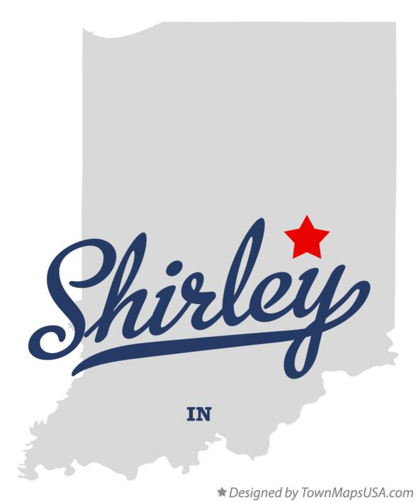 Map of Shirley Indiana IN