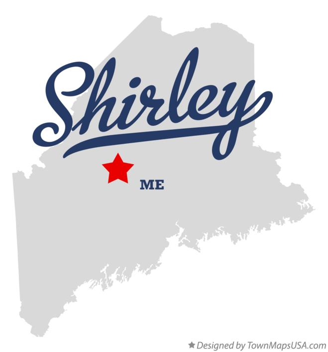 Map of Shirley Maine ME