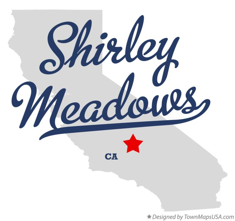 Map of Shirley Meadows California CA