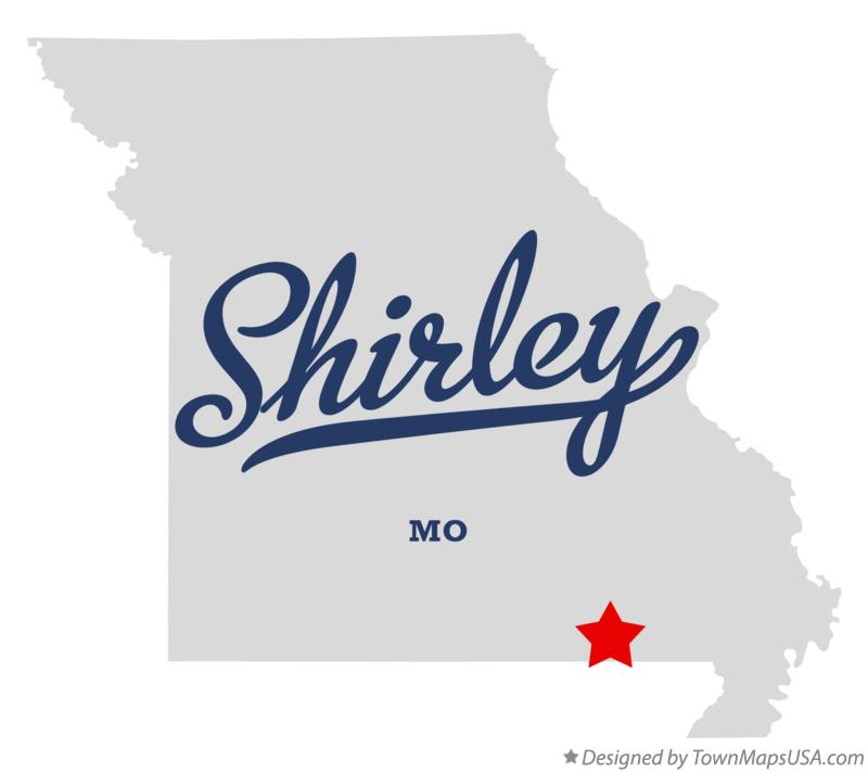 Map of Shirley Missouri MO