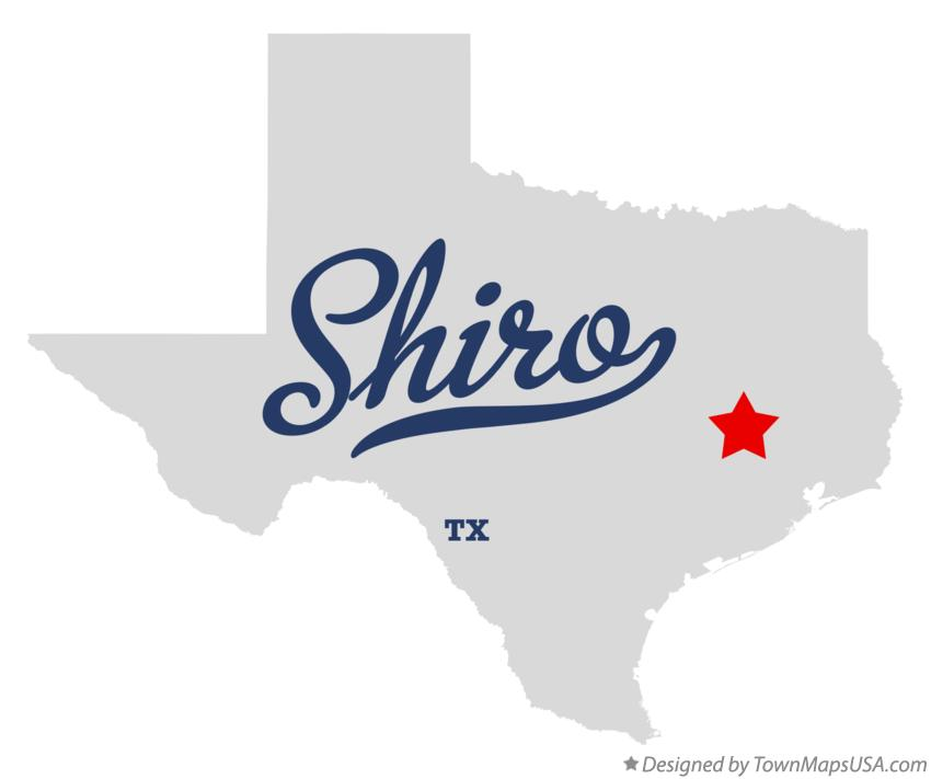 Map of Shiro Texas TX