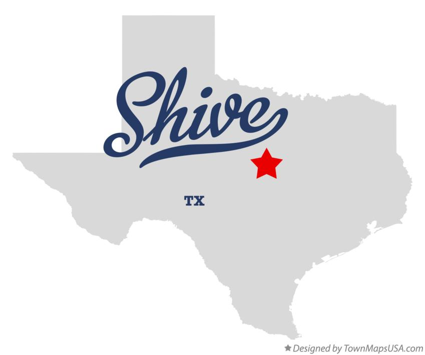 Map of Shive Texas TX