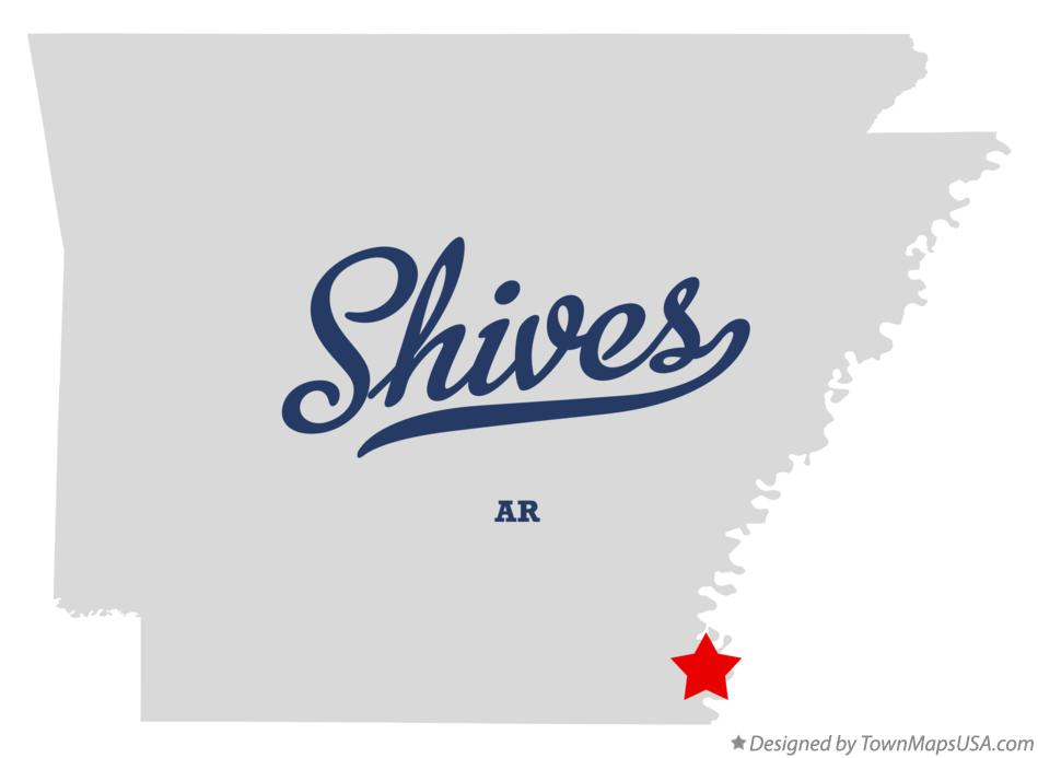 Map of Shives Arkansas AR